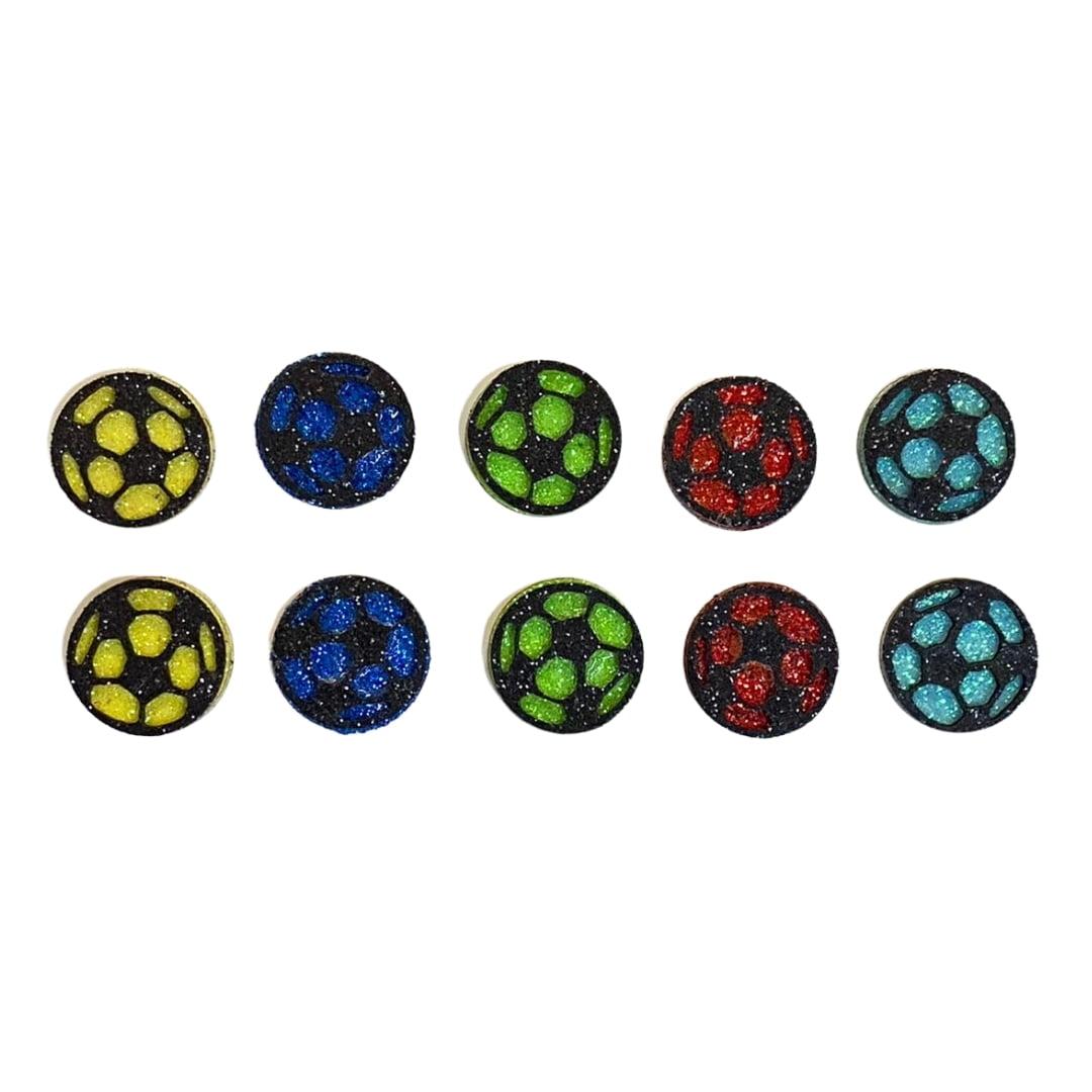 Adesivo EVA Bola Futebol - 10 unidades Sortidas