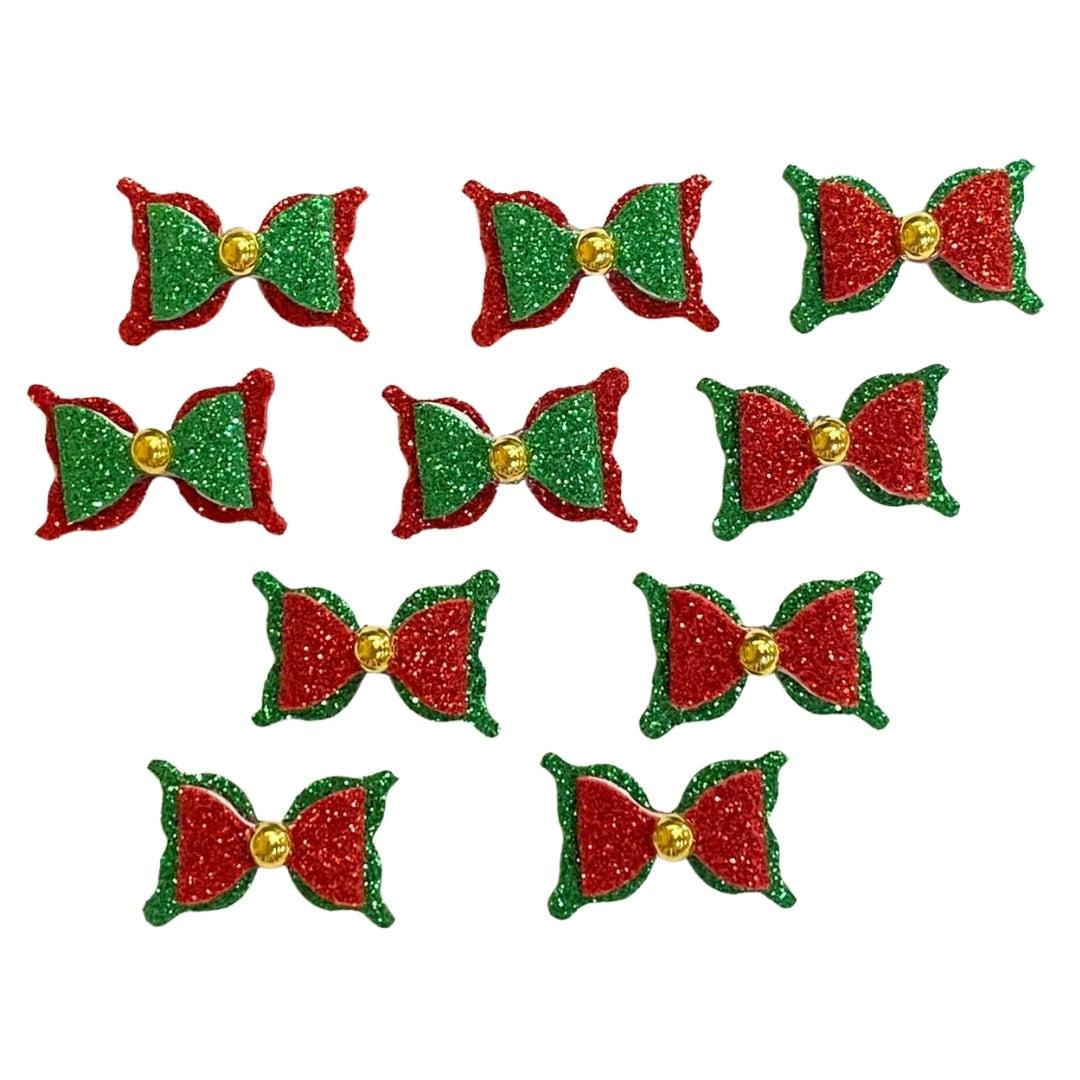 Adesivo EVA Lacinho Duplo Natal - 10 unidades
