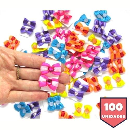 Laço Borboleta PP - 100 unidades Sortidas