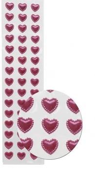 Cartela Adesiva M Coração - Escolha a cor