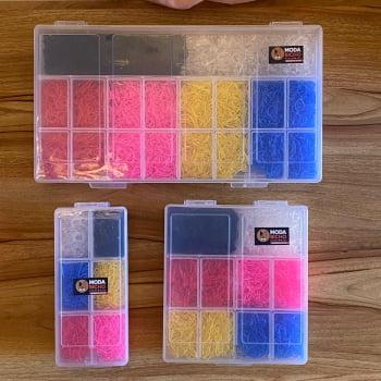 Kit Elástico de Silicone para Penteado M - 5.000 unidades