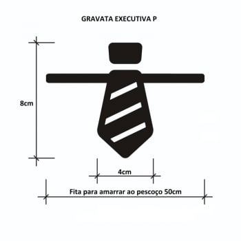 Gravata Executiva P Banho & Tosa - 50 unidades - Pacote Sortido Cores Lisas