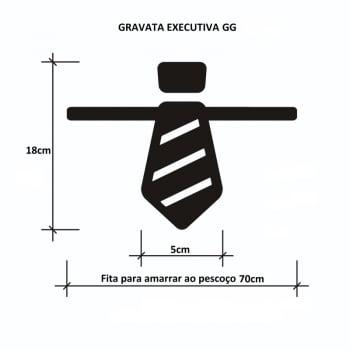 Gravata Executiva GG Banho & Tosa - 50 unidades - Pacote Sortido Cores Lisas