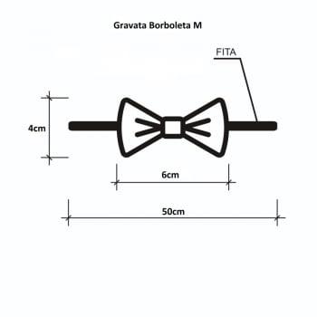 Gravata Borboleta M - 100 unidades Sortidas
