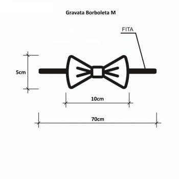 Gravata Borboleta GG Banho & Tosa - 10 unidades - Pacote Sortido Cores Lisas