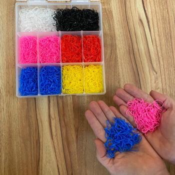 Elástico de Silicone para Penteado - Escolha a COR e QUANTIDADE