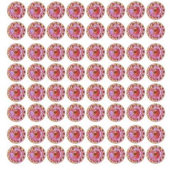 Cartela Adesiva G - Flor Strass 12mm - Escolha a COR
