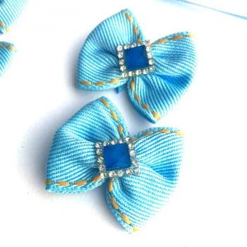 Box Semanal Laços e Gravatas - 50 unidades Estampa Jeans Azul Claro