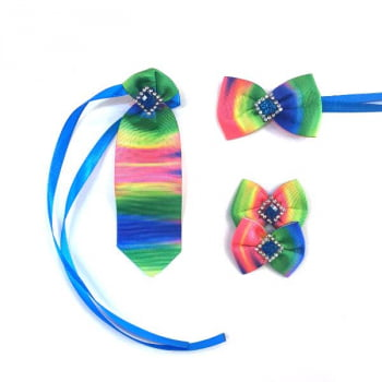 Box Semanal Laços e Gravatas - 50 unidades Estampa Tie Dye