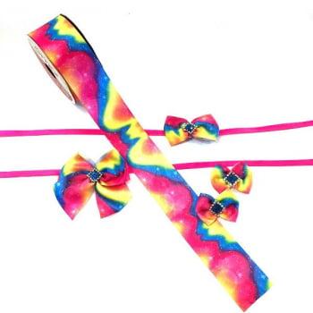 Box Semanal Laços e Gravatas - 50 unidades Estampa Tie Dye Stars