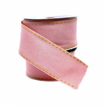 Box Semanal Laços e Gravatas - 50 unidades Estampa Jeans Rosa