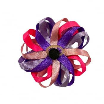 Laço Flor Loopy - 10 unidades - Escolha a COR
