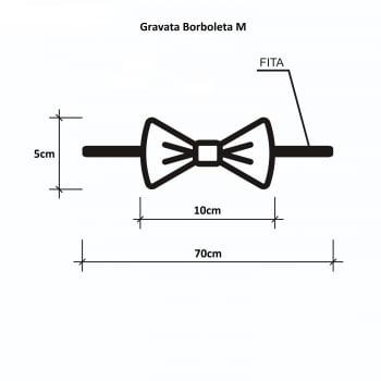 Gravata Borboleta GG - 10 unidades SORTIDAS