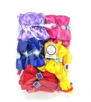 Gravata Borboleta M Banho & Tosa - 50 unidades - Pacote Sortido Cores Lisas