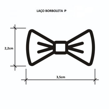 Kit Laços Borboleta - Tamanhos PP, P, M, GG - 100 unidades Sortidas