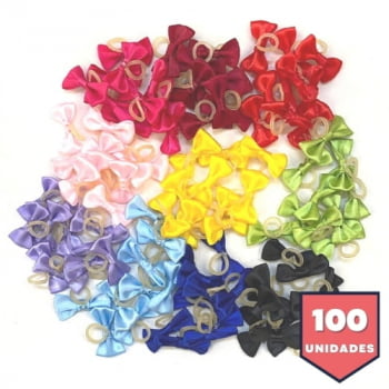 Laço Borboleta P Liso - 100 unidades Sortidas